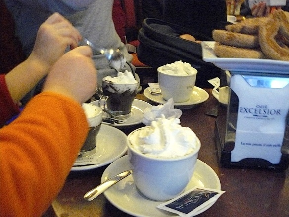 The best thing about the day? Hot chocolate with whipped cream at the end of it!