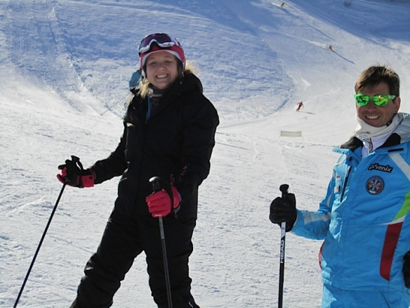 Very proud of myself (also, hot ski instructor)